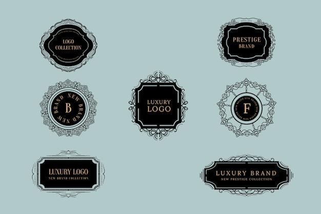 Collection de logo rétro de luxe