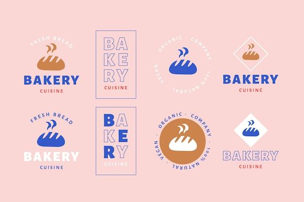 Collection de logo rétro minimal coloré
