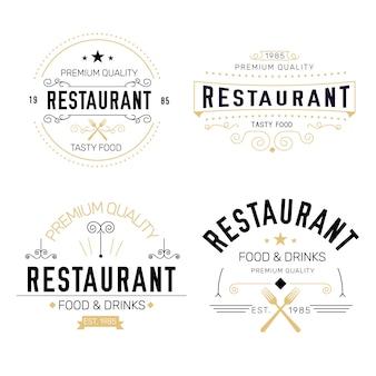Collection de logo rétro de restaurant