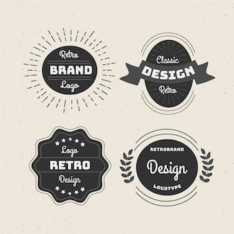 Collection de logo rétro