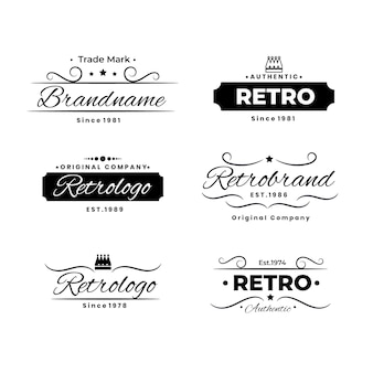 Collection de logo rétro