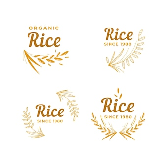 Collection de logo de riz