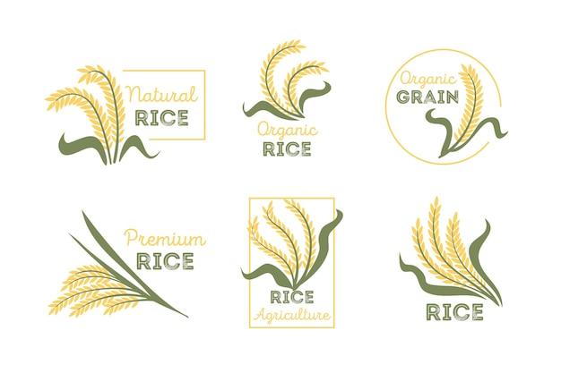 Collection de logo de riz
