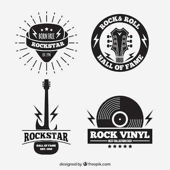 Collection de logo de rock vintage