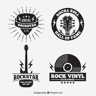 Collection de logo de rock vintage