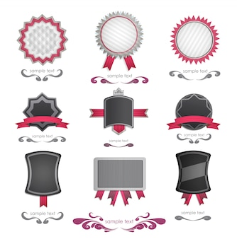 Collection de logo rose