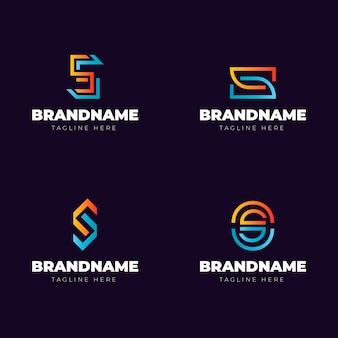 Collection de logo s dégradé de couleur