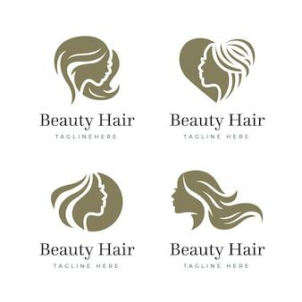 Collection de logo de salon de coiffure