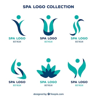 Collection de logo spa