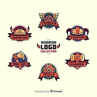 Collection de logo de sport de guerrier moderne