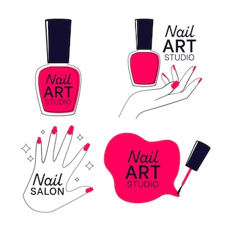 Collection de logo de studio d'art d'ongles