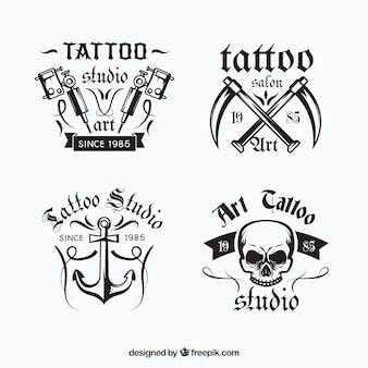 Collection de logo de tatouage