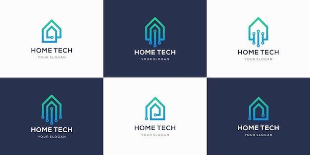 Collection de logo de technologie domestique