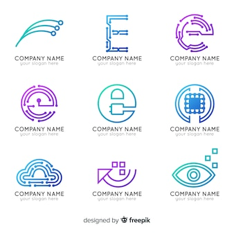 Collection de logo de technologie de gradient