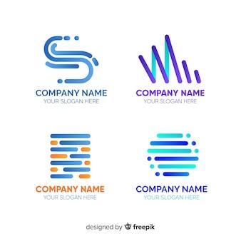 Collection de logo de technologie plate