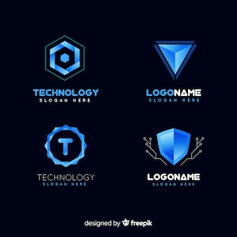 Collection de logo de technologie