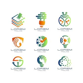 Collection de logo technologique