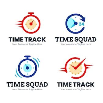 Collection de logo de temps plat