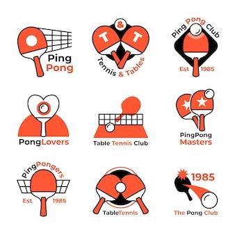 Collection de logo de tennis de table