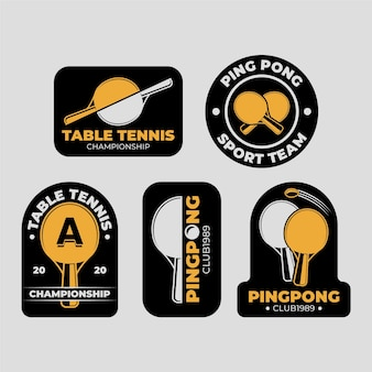 Collection de logo de tennis de table
