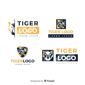 Collection de logo de tigre