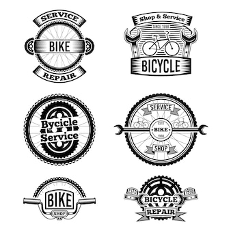 Collection de logo de vélo au design plat