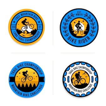 Collection de logo de vélo dessiné à la main