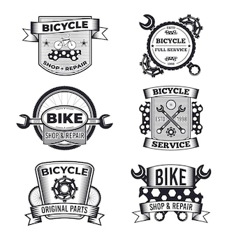 Collection de logo de vélo monochromatique