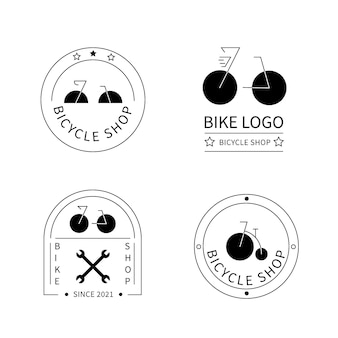 Collection de logo de vélo plat