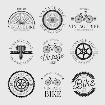 Collection de logo de vélo vintage