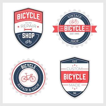Collection de logo de vélo vintage
