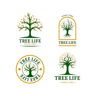 Collection de logo de vie d'arbre