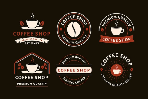 Collection de logo vintage de café