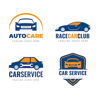 Collection de logo de voiture design plat