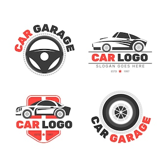 Collection de logo de voiture plate