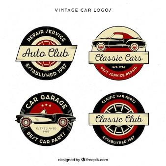 Collection de logo de voiture vintage