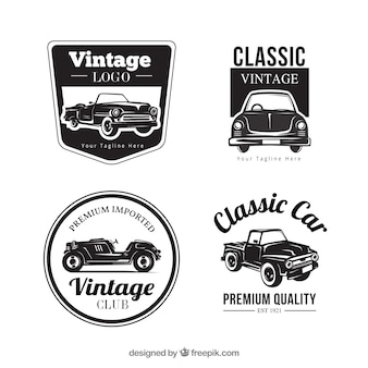 Collection de logo de voiture vintage
