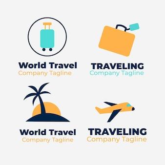 Collection de logo de voyage