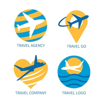 Collection de logo de voyage
