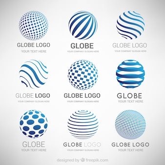 Collection de logos abstraits modernes
