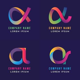 Collection de logos alpha dégradés