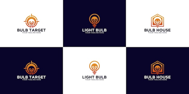 Une collection de logos d'ampoules créatifs