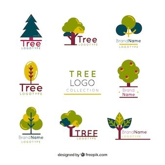 Collection de logos d'arbres pour les entreprises