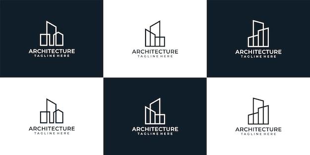 Collection de logos d'architecture