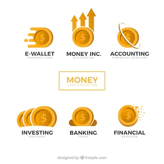 Collection de logos d'argent pour les entreprises