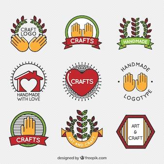 Collection logos de l'artisanat