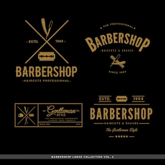 Collection de logos barbershop