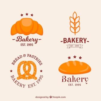 Collection de logos de boulangerie dans un style dessiné à la main
