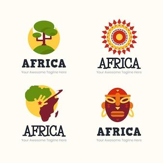Collection de logos de carte créative afrique