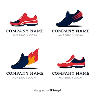 Collection de logos de chaussures de course